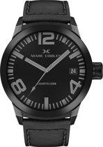 Marc Coblen  MC50B1- Horloge - 50 mm - Zwarte wijzerplaat - Zwarte horlogeband