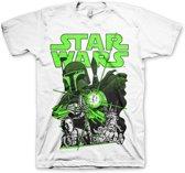 STAR WARS - T-Shirt Vintage Boba Feet - White (XXL)