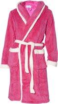 Badjas capuchon roze maat S (5-6jaar)