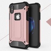 GSMWise - Apple iPhone X - Stevig Hybrid Beschermcover Back Case Shockproof - Rose / Goud