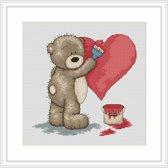 Luca S borduurpakket Bruno Painting a Heart B1007