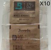 Bovedapacks| Humidizak | Humidor | Boveda 62% 10X 8 Gram