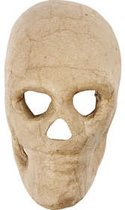 Skelet masker h: 13 cm 1stuk