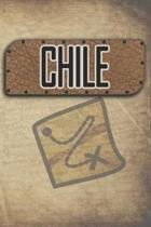 Chile: Reisetagebuch, Notizbuch oder Urlaubsplaner mit Platz auf 120 wei�en linierten Dot Line Seiten zum Eintragen von Spr�c