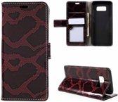 GSMWise - Samsung Galaxy S8 - Slangen Textuur Lederen Portemonnee Hoesje met Kaarthouder - Rood