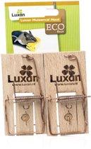 Luxan Muizenval Hout - Ongediertebestrijding - 2 stuks