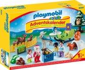 PLAYMOBIL 123 Adventskalender Kerstmis in het dierenbos - 9391