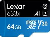 Lexar High Performance 633x microSDXC 64GB - met adapter