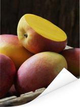 Verse biologische mango's Poster 60x80 cm - Foto print op Poster (wanddecoratie woonkamer / slaapkamer)