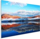 Mist over het meer van Loch Lomond in het Verenigd Koninkrijk Plexiglas 120x80 cm - Foto print op Glas (Plexiglas wanddecoratie)