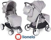 Makkelijk opvouwbare Lionelo Elise kinderwagen met luifel en veel accessoires grijs
