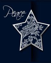 Christmas Star Peace Holiday Message School Comp Book 130 Pages