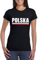 Zwart Polen supporter t-shirt voor dames XS