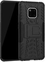 Rugged Hybrid Huawei Mate 20 Pro Case - Zwart