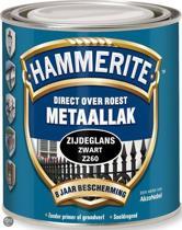 Hammerite Zijdeglans Zwart Z260 750ML