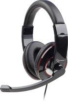 Gembird MHS-001 - Koptelefoon met microfoon, glossy zwart