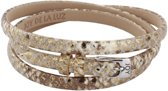 Joy de la Luz Leather Bracelet Python Gold Armband JB244 (62 cm)
