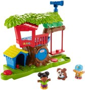 Fisher-Price Little People Schommelen & Delen Boomhut - Speelfigurenset