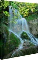 Krushuna waterval Oost-Europa Canvas 60x80 cm - Foto print op Canvas schilderij (Wanddecoratie)
