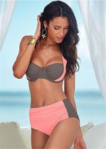 High waist bikini set zwemkleding fashion Roze