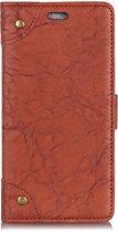 Mobigear Copper Buckle Retro Wallet Hoesje Bruin Xiaomi Mi Mix 3