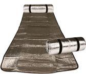 Abbey Strandmat Aluminium - Aluminium/Zwart