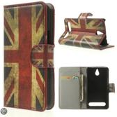 Sony Xperia E1 agenda uk vlag wallet hoesje