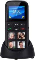 Fysic FM-50 GSM met GPS en fototoetsen | 4 Grote fototoetsen, Eenvoudig in gebruik | Zwart