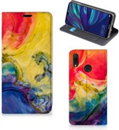 Huawei Y7 hoesje Y7 Pro (2019) Bookcase Watercolor Dark
