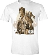 The Walking Dead - Daryl Montage Mannen T-shirt - Wit - S
