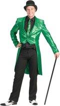 Groene slipjas met glitters voor heren - Volwassenen kostuums
