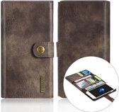 DG-Ming Luxe Magnetische Leren Wallet iPhone 7/8 plus - Coffee Bruin