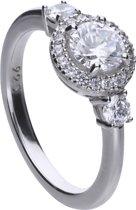 Diamonfire - Zilveren ring met steen Maat 18 - Classics - Zirkonia - Entourag