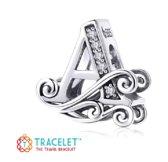 Zilveren bedel Letters |Bedel Sierletter A  | Bedels Charms Beads | 925 sterling silver | net zo waardevol als pandora maar dan goedkoop | direct snel leverbaar | Tracelet | Moederdag