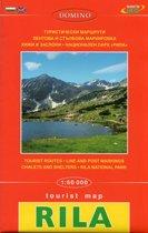 Wandelkaart Rila gebergte - Bulgarije