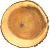 onderzetter boomschijf - 30 tot 33 cm - acaciahout - fairtrade uit de Filippijnen