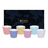 Tokyo Design Studio Star Wave Set van 6 Kopjes 180 ml in mooie Geschenkdoos