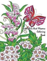 Butterflies and Flowers Coloring Book