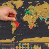 Wereldkaart deluxe - kraskaart - scratchmap - ideaal voor de echte reizigers