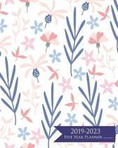 2019-2023 Five Year Planner- Blue Flowers