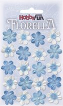 FLORELLA-Bloemen blauw, 2cm