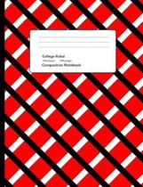 Red Plaid Composition Notebook