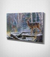 Snow Deer – Painting Canvas