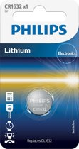 Philips CR1632 - Knoopcel batterij - 1 stuk