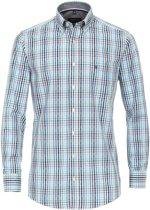 Casa Moda Sport Overhemd Blauw Ruit Dobby Comfort Fit Button Down - 6XL