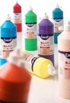 Plakkaatverf Basic  waterbasis 12 kleuren flacons van 1 liter