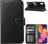 Samsung Galaxy A10 Hoesje Zwart met Pasjeshouder
