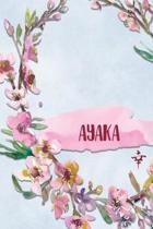 Ayaka: Personalized Journal with Her Japanese Name (Janaru/Nikki)