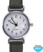 Horloge voor de smalle pols- Jol- Groen- 26 mm