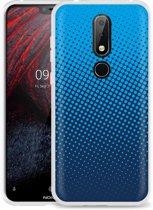 Nokia 6.1 Plus Hoesje lichtblauwe cirkels